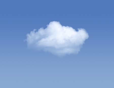 Single cloud at the blue sky with copy space Stock Photo - 16398909