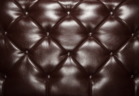 leather furniture: Dark brown retro leather background with copy space Stock Photo