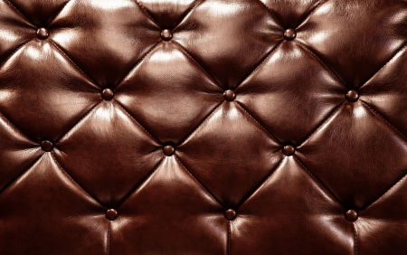 Dark brown buttoned leather texture with copy space Stock Photo - 17954541