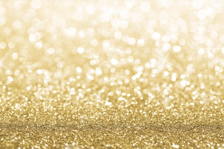 luxury party: Gold defocused glitter background with copy space