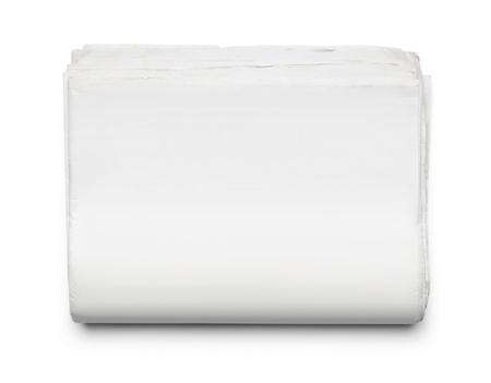 periodicos: Pila de peri�dicos en blanco aisladas sobre fondo blanco, con copia espacio