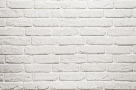Empty white brick wall texture, background with copy space