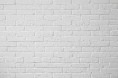 White brick wall texture Archivio Fotografico