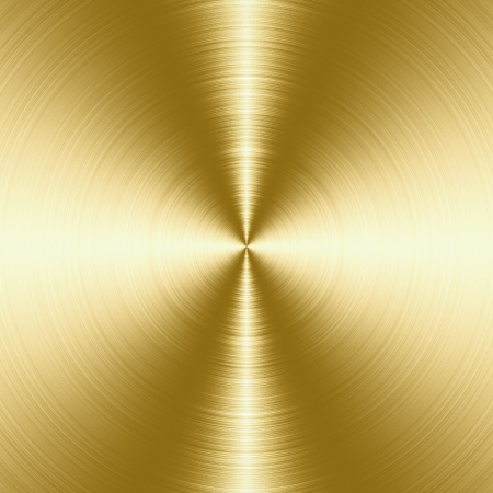 光沢がある、金ブラシをかけられた金属の質感、コピー領域と背景 写真素材