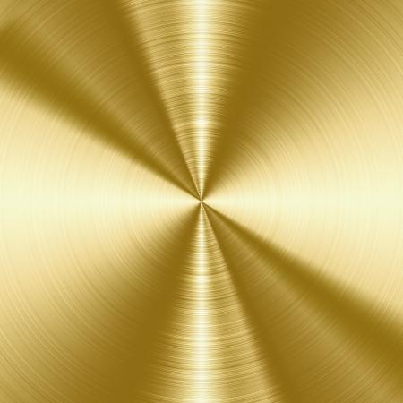 Glanzend, goud geborsteld metaal textuur, achtergrond met kopie ruimte
