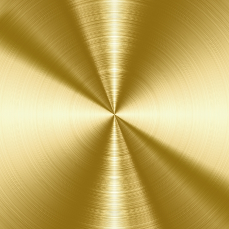 Shiny, gold brushed metal texture, background with copy space photo