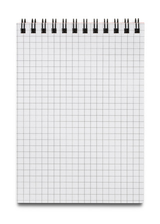 Blank notebook isolated on white background with copy space