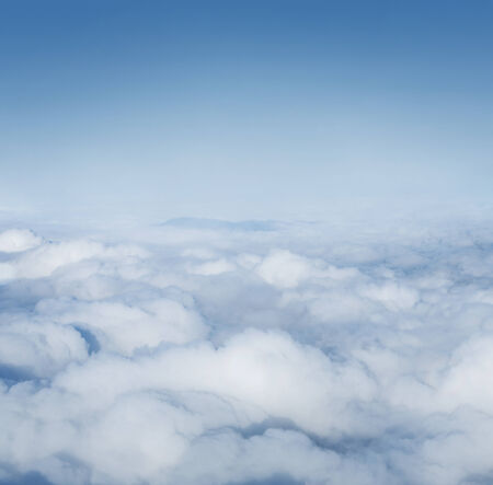 Clouds from above abstract background with copy space photo