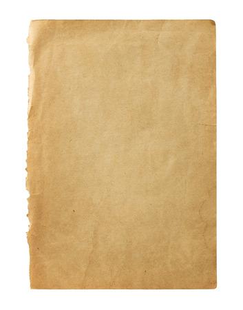 Oude blanco boek pagina geïsoleerd op een witte achtergrond met een kopie ruimte