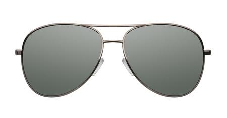 Close up der Pilotenbrille isoliert auf weißem Hintergrund Lizenzfreie Bilder