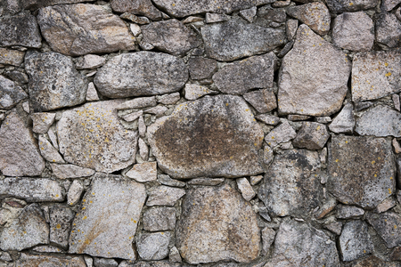 Stone wall texture, background with copy space photo
