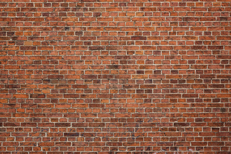 Grunge red brick wall background with copy space Stok Fotoğraf - 30934396
