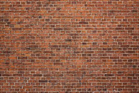 antiek behang: Grunge rode bakstenen muur achtergrond met kopie ruimte Stockfoto
