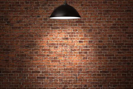 mattoncini: Grunge background muro di mattoni rossi con copia spazio