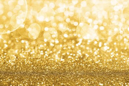 weihnachten gold: Gold defocused glitter background mit Kopie Raum