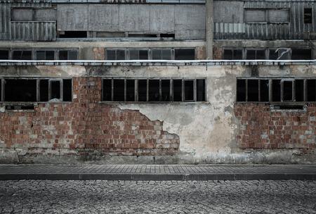exteriores: Grunge fondo industrial vacío Foto de archivo