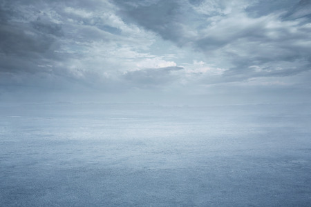 Empty frozen lake background with copy space Stock Photo