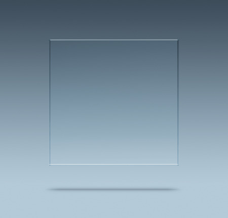 Close up of blank glass plate with copy space