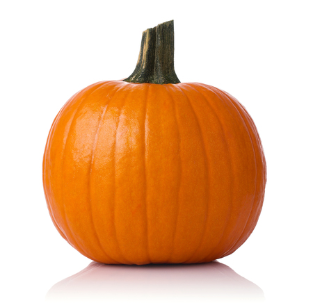 Close up of a pumpkin isolated on white background Stock Photo