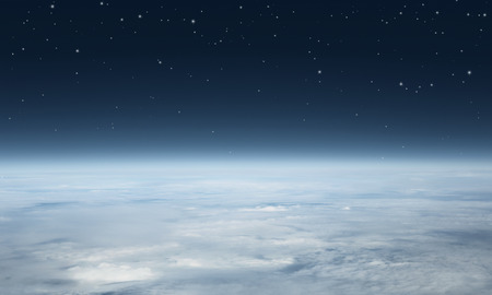 Planet earth seen from above with copy space Stock Photo