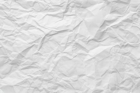 Crumpled white paper texture, background with copy space  Stock Photo