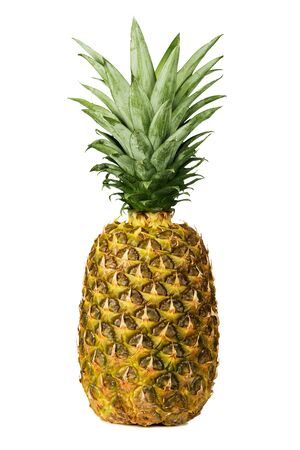 Close up of a pineapple isolated on white background