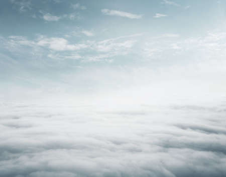 freedom: Sky above the clouds background with copy space
