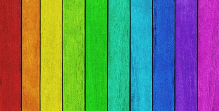 blue green background: Empty, rainbow colored wood background, texture witx copy space
