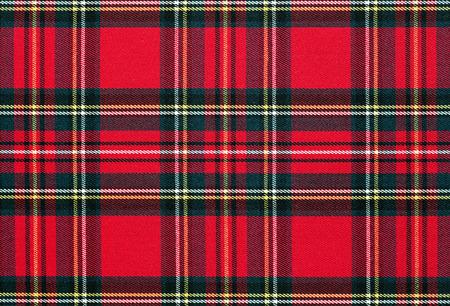 Nahaufnahme von roten, karierten Textil-Hintergrund, Textur mit Kopie Raum