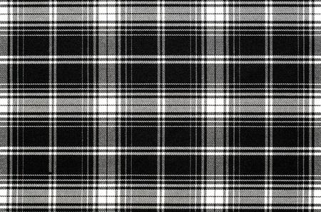 Nahaufnahme von schwarz und weiß karierten Stoff Hintergrund, Textur mit Kopie Raum Standard-Bild