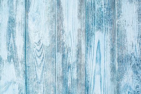 Weathered blue wood texture, background with copy space