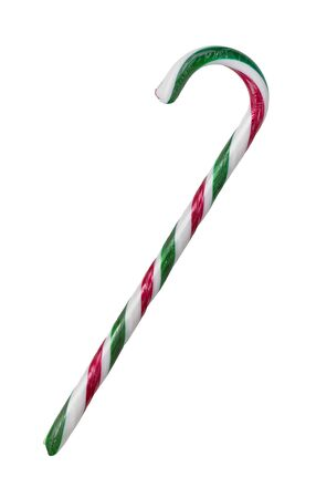 Close up of candy cane isolated on white background Standard-Bild