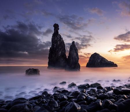 Madeira landscape at the sunset