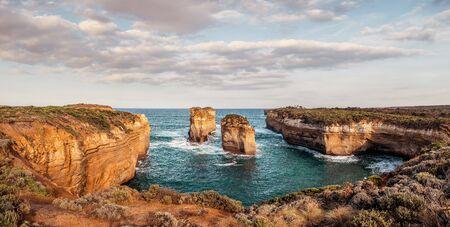 Panoramic landscape view at Great Ocean Road, Australia