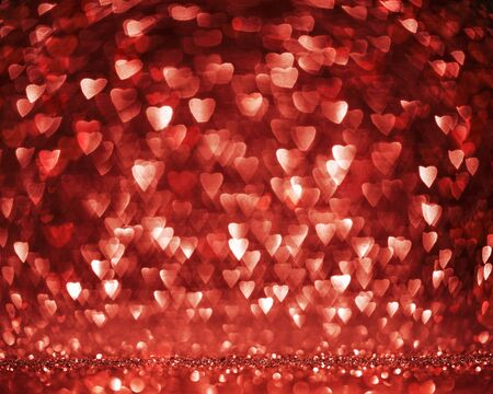 Valentines heart shaped defocused background with copy space