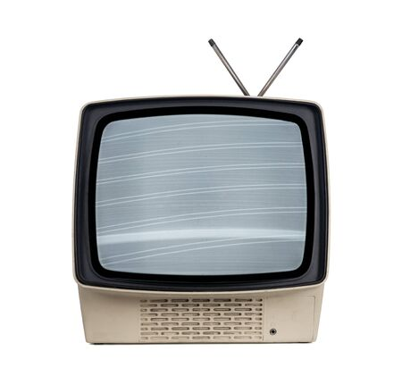 Old tv isolated on white background Stock fotó