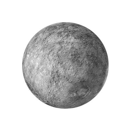 3d render of the moon isolated on white background 版權商用圖片