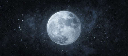 Panoramic view of the moon out in the space. 3d render 版權商用圖片