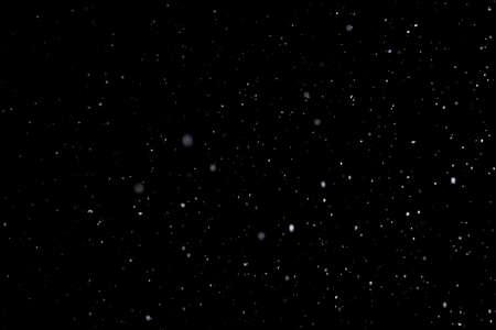 Falling snows on black 版權商用圖片
