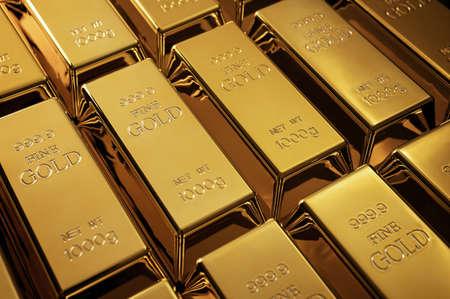 Gold bars background, investment concept Archivio Fotografico