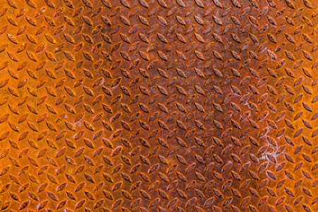 steel texture: The surface of rusty sheet metal. Stock Photo