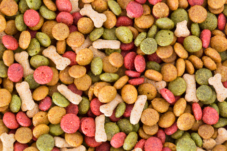 Dog food pellets for use as a background.
