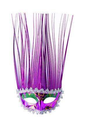 Purple fancy mask on a white background