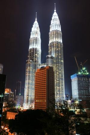metall lamp: Petronas Twin Towers, Kuala Lumpur, Malaysia by night