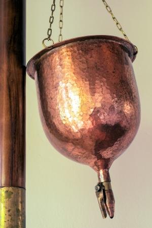 ayurveda - copper-vessel for shirodhara Stock Photo - 22026843