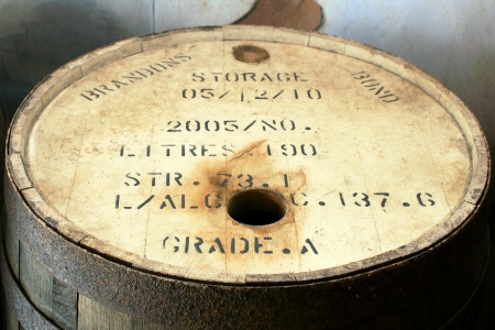 dilute: close-up picture of the upper part of a rum-barrel