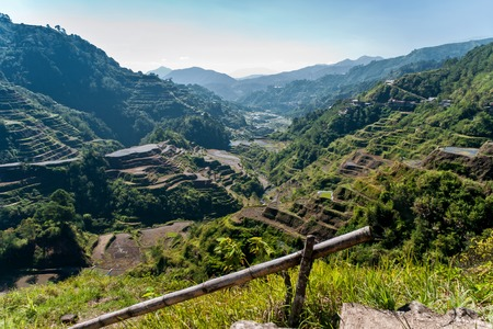 the famous rice-terraces of Banaue, Luzon, Philippines photo
