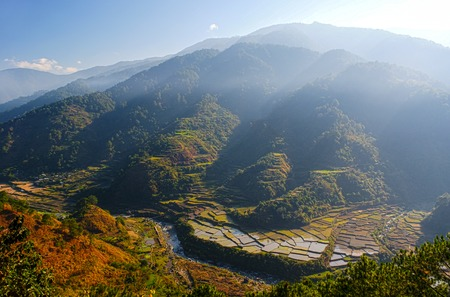 overview of the rice-terraces of Sagada, Luzon, Philippines photo