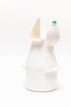 expedient: Vaporizer isolated in front of white background