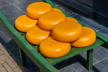 edam: typical dutch load carrying big cheese wheels